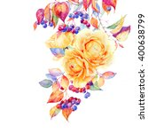 Greeting Card With Flowers And...
