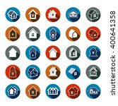 different houses icons for use... | Shutterstock .eps vector #400641358