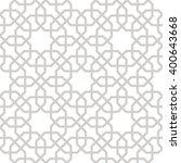 arabesque grey lines background ... | Shutterstock .eps vector #400643668