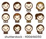 businessman face icon set | Shutterstock .eps vector #400646050