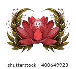 vector red lotus illustration | Shutterstock .eps vector #400649923