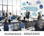 Stock photo cloud computing network data storage technology concept 400653343