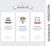 vector template for wedding... | Shutterstock .eps vector #400653394