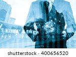 double exposure of success... | Shutterstock . vector #400656520