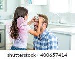 daughter in angel costume... | Shutterstock . vector #400657414