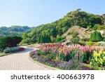 Walkway In Flower Garden
