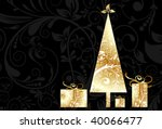 christmas card with an ornament ... | Shutterstock .eps vector #40066477
