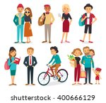 set of style young people and... | Shutterstock .eps vector #400666129