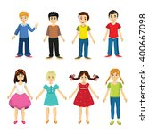 set of vector characters.... | Shutterstock .eps vector #400667098