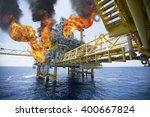 offshore oil and gas fire case... | Shutterstock . vector #400667824