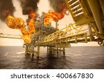 offshore oil and gas fire case... | Shutterstock . vector #400667830
