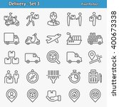 delivery icons. professional ... | Shutterstock .eps vector #400673338
