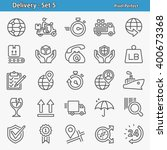 delivery icons. professional ... | Shutterstock .eps vector #400673368