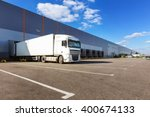 cargo truck at warehouse... | Shutterstock . vector #400674133