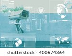 cctv camera technology on... | Shutterstock . vector #400674364