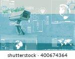 cctv camera technology on... | Shutterstock . vector #400674364
