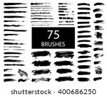 set of black paint  ink brush... | Shutterstock .eps vector #400686250