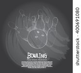 illustration of bowling.... | Shutterstock .eps vector #400691080