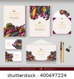 corporate identity. vector... | Shutterstock .eps vector #400697224