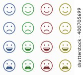 set of emoticons  emoji and... | Shutterstock .eps vector #400705699