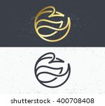 two vector symbols of nature ... | Shutterstock .eps vector #400708408