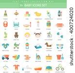 vector baby color flat icon set....
