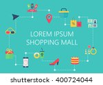 shopping mall map concept... | Shutterstock .eps vector #400724044