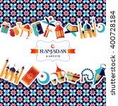 ramadan kareem icons set of... | Shutterstock .eps vector #400728184
