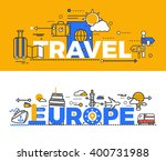 travel europe design flat... | Shutterstock . vector #400731988