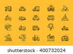 set of transport thin  lines ... | Shutterstock . vector #400732024