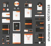 corporate identity template set.... | Shutterstock .eps vector #400735618