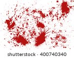 blood splatter in front of a... | Shutterstock . vector #400740340