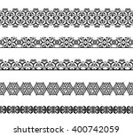 set of black borders isolated... | Shutterstock . vector #400742059