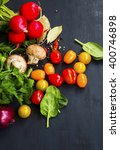 salad ingredients with organic... | Shutterstock . vector #400746898