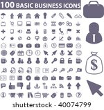 100 business icons. vector | Shutterstock .eps vector #40074799