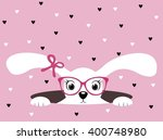 cute white bunny girl with... | Shutterstock .eps vector #400748980