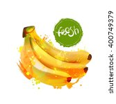banana fruit vector... | Shutterstock .eps vector #400749379