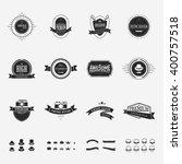 vintage vector design elements  ... | Shutterstock .eps vector #400757518