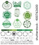 natural bio eco logotype...   Shutterstock .eps vector #400762600