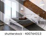 3d illustration of bedroom...   Shutterstock . vector #400764313
