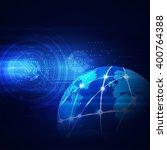 futuristic world network... | Shutterstock .eps vector #400764388