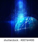 futuristic world network... | Shutterstock .eps vector #400764400