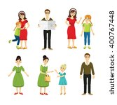set of vector characters | Shutterstock .eps vector #400767448