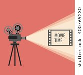 movie projector background... | Shutterstock .eps vector #400769230