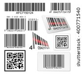 set of bar codes and qr codes... | Shutterstock .eps vector #400771540