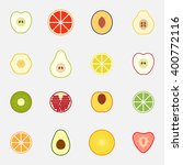 set of flat design icons for... | Shutterstock .eps vector #400772116