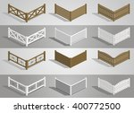 set of different sections of... | Shutterstock .eps vector #400772500