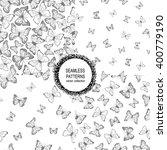 set of seamless patterns.... | Shutterstock .eps vector #400779190