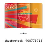 colorful tri fold brochure...   Shutterstock .eps vector #400779718