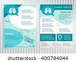 lung icon on vector brochure.... | Shutterstock .eps vector #400784044